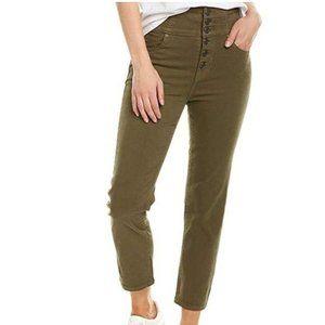Joie Laurelle High-Rise Button Fly Crop Jeans 25